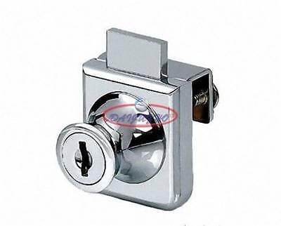 New 2pcs Cabinet Display Case Showcase Single Glass Door Lock