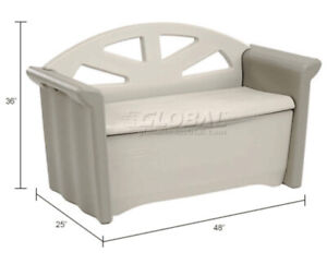 moving sale Rubbermaid storage bench