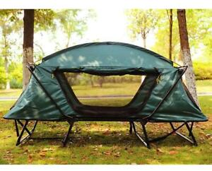 Camping Outdoor Hiking Sleep 2 Person Off The Ground Double Tent 024135