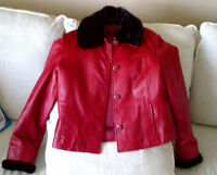Red Leather Jacket from Danier