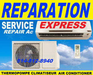 REPARATION CHAUFFAGE HEATING CLIMATISÉ CLIMATISEUR THERMOPOMPE