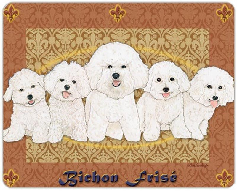 Bichon Frise Cutting Board Tempered Glass