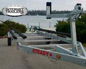 2017 STEADY DUAL-DUTY Pontoon Trailer ed2720lbs CAPACITY+18'-22' Peterborough Peterborough Area image 6