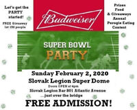 Super Bowl Party at the Slovak Legion SUPER DOME!