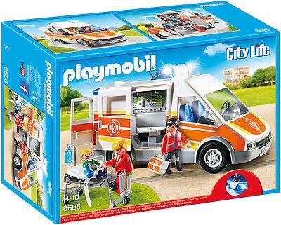 """PLAYMOBIL®  6685  """"  Krankenwagen mit Licht und Sound  """", NEU & OVP"""