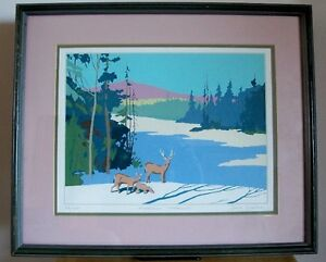 """Algonquin Afternoon"" Silkscreen/Serigraph 23/250 by Bareford"