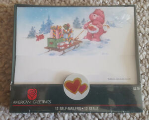 Care Bears self-mailers and seals 1980s