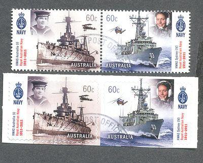 Australia-Royal Australian Navy-cto-f.used gummed & self-ad(3604/7( Ships )2011