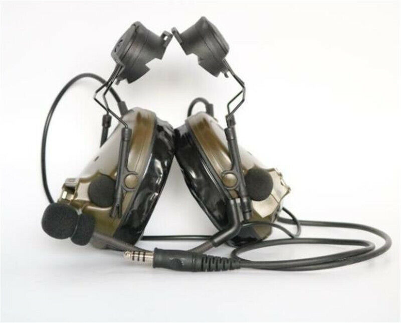 COMTAC III /C3 Single Com Noise Reduction Headset For TCA TRI /Real Mil-Spec PTT
