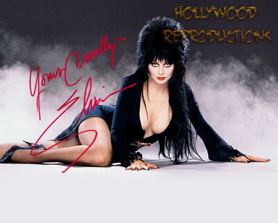 REPRINT - ELVIRA ~ Autographed signed photo