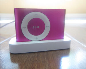 2009 iPod Shuffle: Pink, Clip On (Barely Used)