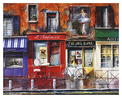 Nestor Cafe LAmbroisie Poster Kunstdruck Bild 62x77cm
