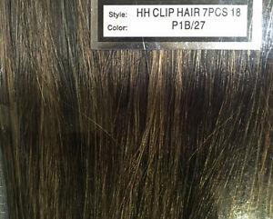 100% Human Hair 7pc 18 inch clip on hair extensions Cornwall Ontario image 4