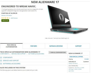 Alien-Ware 17'' Gaming Laptop