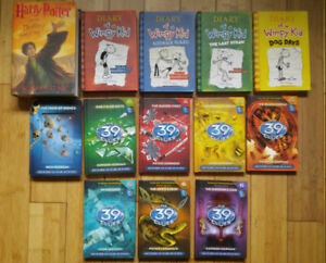 Book Lot, Novels (Harry Potter, Diary of a Wimpy Kid, 39 Clues)