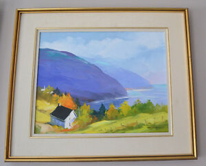 CHRISTIAN BERGERON OIL ON CANVAS PAINTING MINT
