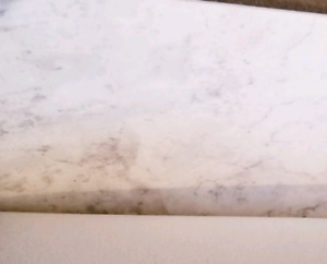 Marble Look Vinyl Sheet White and Grey