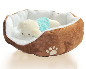 New Cotton Pet Dog Cat Soft Fleece Warm Bed Puppy House Nest with Plush Mat Pad