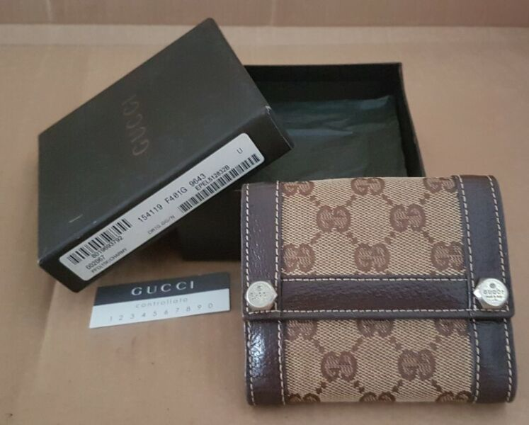 Luxury Gucci Designer Leather Wallet, Controllato Model, Florence, ITALY, Gucci Monogram Accessories