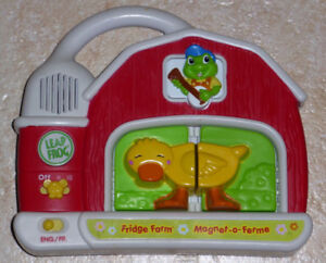 Leap Frog Fridge Farm Magnetic Animal Animal Set With Tad