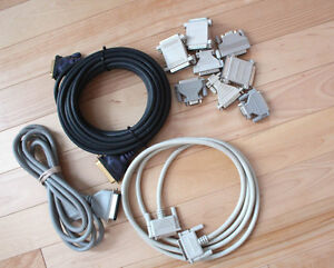 3 Parallel Cables & 6 misc Serial Adapters