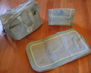 Baby Boy Blue Teddy Bear Diaper Bag & Misc. *New, Never Used!*