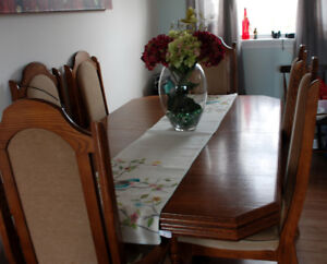 Dining room table and china cabinet (REDUCED) reg 1000.00