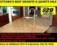 FEBRUARY SPECIAL Granite & Quartz Sale $29/sqf