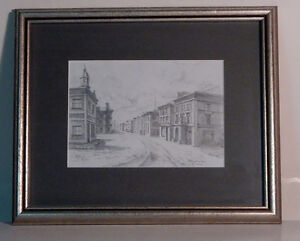 Pencil Drawing Framed Print of London, ON