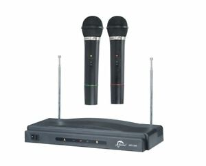 PRO DUAL KARAOKE MIC/MICROPHONE WIRELESS PROFESSIONAL DJ, MIC SINGING,SPEECHES