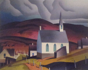 """A Northern Church"" Limited Edition Lithograph by A.J. Casson"