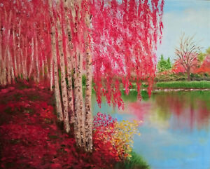 Beautiful painting- oil on canvas in perfect cond- ready to hang