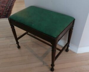 Vintage Solid built 1950's Piano Bench