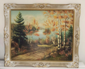 4 Beutiful Oil Paintings with frames