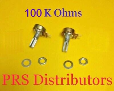 100k Ohm Linear Panel Mount Volume Control Potentiometer B100k100 K Ohm 2 Pieces