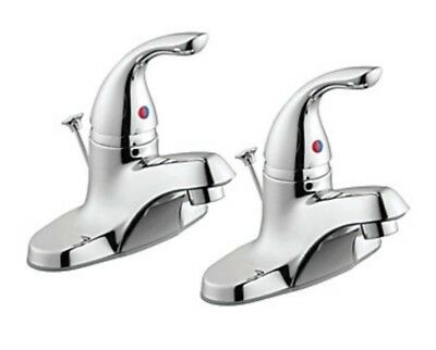 GLACIER BAY1500 Series 2-Pack Single Handle Bath Faucets in Chrome -