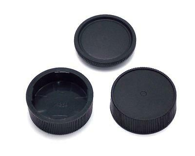 2  Leica M Rear Lens Caps 1 Body Cap Leica M  NEW