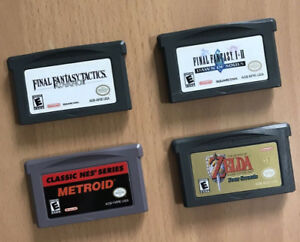 GBA Games : Zelda / Final Fantasy / Metroid