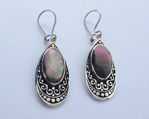 Original silver, 14kt, and pearl earrings