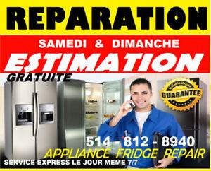 RÉPARATION FRIGIDAIRE FRIGO RÉFRIGÉRATEUR (514)812.8940 ELECTRO