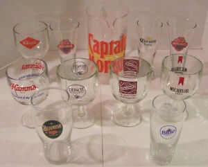 10 BEER GLASSES WITH PICTURE Windsor Region Ontario image 1
