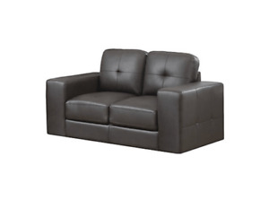 Excellent condition Love Seat- Black Couch
