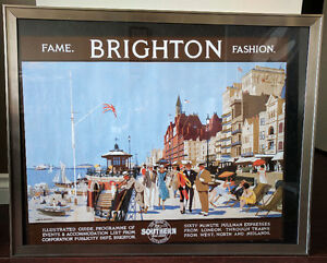 Two framed poster art - Brighton UK
