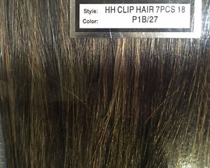 100% Human Hair 7pc 18 inch clip on hair extensions Cambridge Kitchener Area image 4