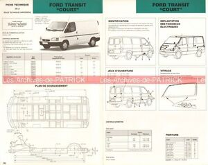ford transit court 1997 fiche technique auto carrosserie peinture ebay. Black Bedroom Furniture Sets. Home Design Ideas