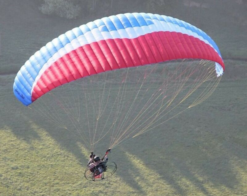 APCO Thrust Hp Paramotor Wing (Patriot)Red White And Blue Color Scheme