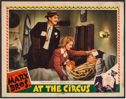 MARX BROTHERS AT THE CIRCUS 1939 LOBBY CARD