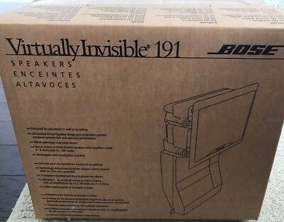 Bose Virtually Invisible 191 In-Wall Speakers  BRAND NEW!
