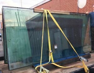 Greenhouse glass, sunroom windows low e, double pane, laminated 5x10' very large