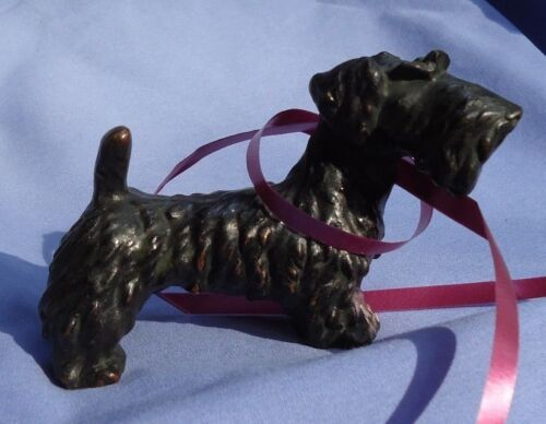 "bronze SEALYHAM CESKY terrier 5"" Vienna Austria dog"